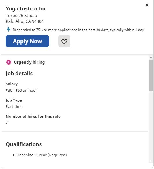 Yoga Instructor Job
