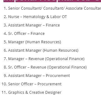 Imperial Hospital Limited Job Circular 2021 - Private job circular 2021